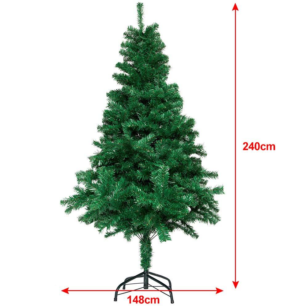 Künstlicher Weihnachtsbaum 240 cm GRÜN Tannenbaum Weihnachten Christbaum Tanne