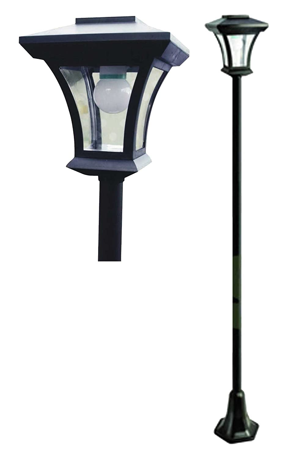 Solar lamp post led lights 166m tall amazon kitchen home aloadofball Image collections