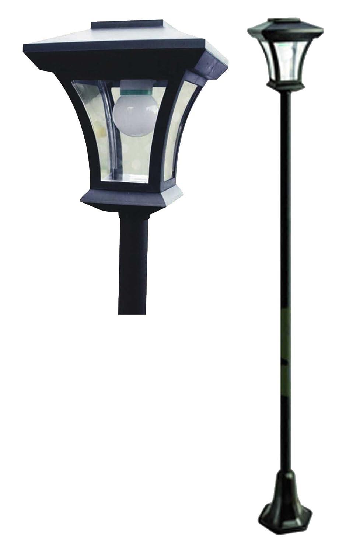 Solar Lamp Post, LED Lights, 1.66m Tall: Amazon.co.uk: Kitchen & Home