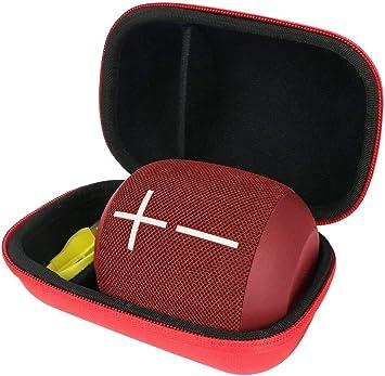 Khanka Duro Viaje Estuche Bolso Funda para Ultimate Ears WONDERBOOM1 / Wonderboom 2 Altavoz Bluetooth Impermeable (Rojo/Nero): Amazon.es: Electrónica
