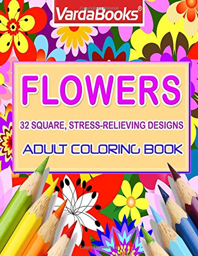 Adult Coloring Book Flowers stress relieving product image