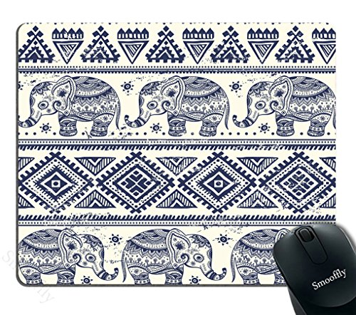Smooffly African Tribal Mouse Pad,Vintage Graphic Lotus Ethnic Elephant Mouse Pad Personality Desings Gaming Mouse - Graphic Ethnic