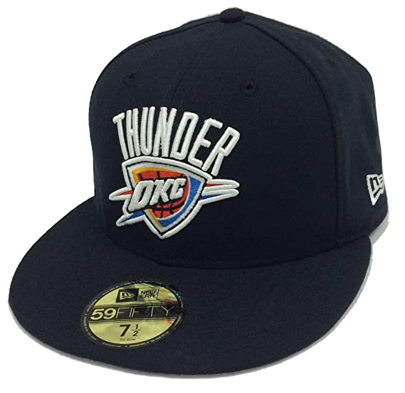 big sale 0b0d0 67ff9 New Era 59Fifty Playoffs Oklahoma City Thunder Navy Fitted Cap (7 1 2)
