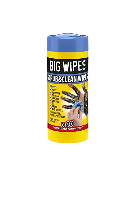 Big Wipes BGW2029 Toallitas Antibacterias Industriales, 40 Unidades