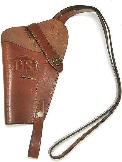 leather Left handed Shoulder Holster for Colt M1911