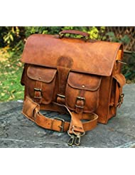 Handmadecraft Leather Unisex Real Leather Messenger Bag for Laptop