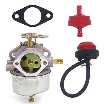 nimtek carburetor for john deere snowblowers trs22 trs26 trs27 trs32  carburetor with fuel line primer bulb fuel filter, carburetors - amazon  canada