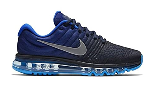 7773ee6b6f Nike Mens Air Max 2017 Running Shoes Dark Obsidian/White/Royal Blue 849559- 400 Size 14: Buy Online at Low Prices in India - Amazon.in