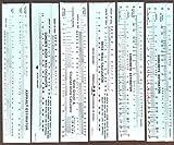 Construction Sliderule Volume Calculator Set of 6pcs