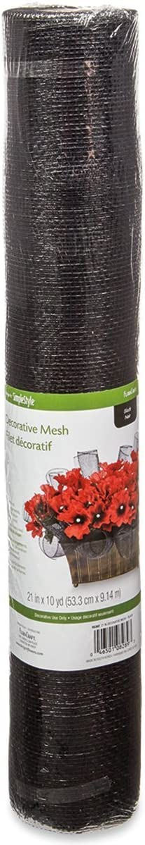 Ben Collection 21 Inch X 30 Ft Decorative Floral Solid Mesh Wrap Red 10 Yard