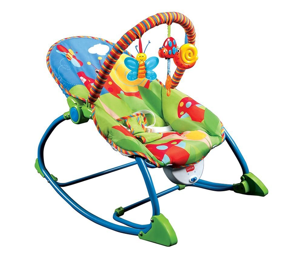 luvlap butterfly newborn to toddler portable rocker bouncer