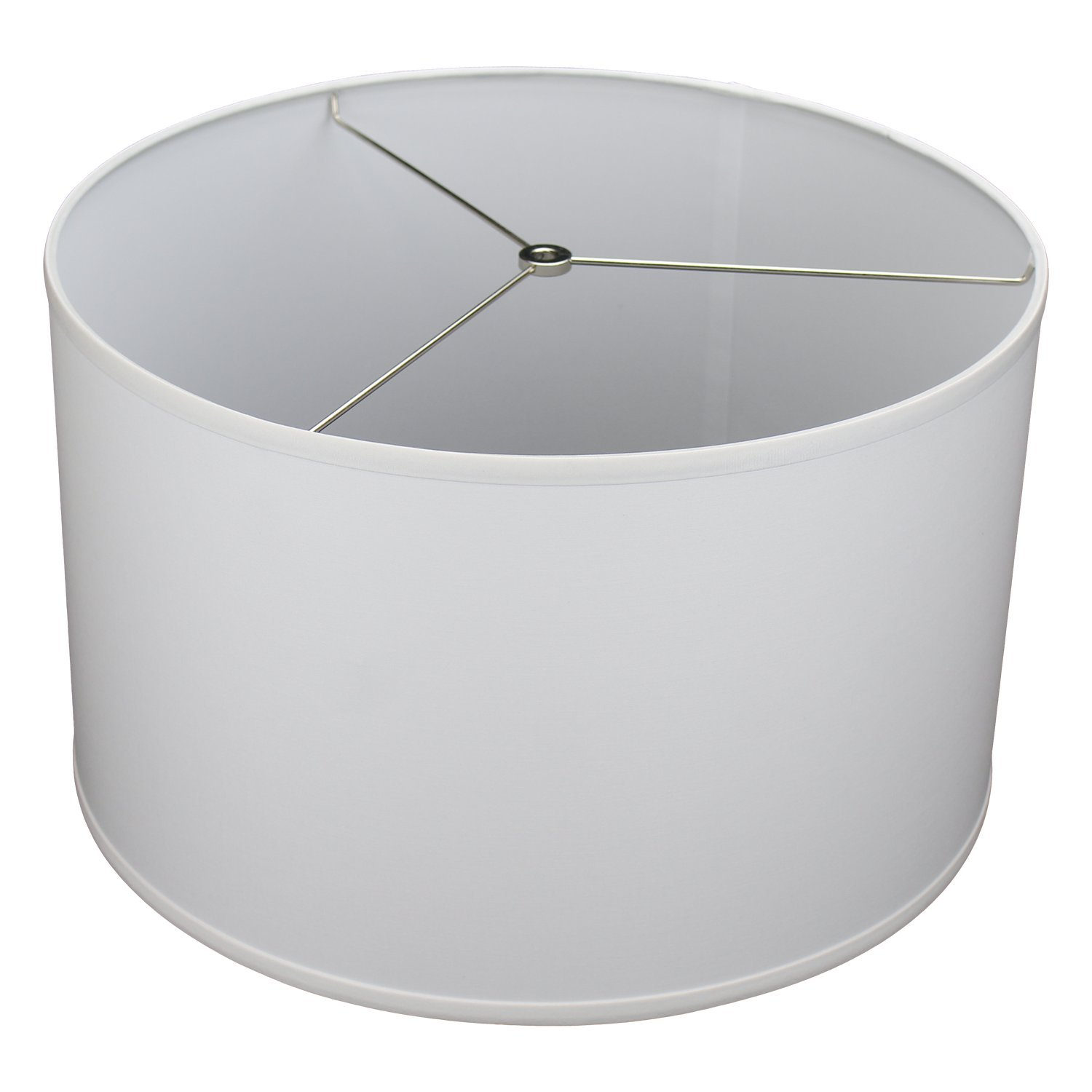 FenchelShades.com 18'' Top Diameter x 18'' Bottom Diameter 11'' Height Cylinder Drum Lampshade USA Made (White) by FenchelShades.com