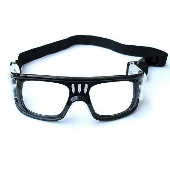 EnzoDate basket occhiali, occhiali di calcio maschile, calcio protettiva occhiali, Professional sport occhiali (bianco)