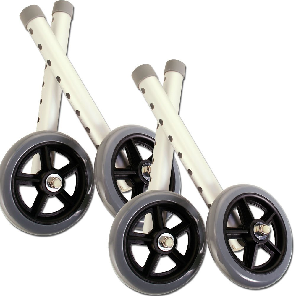 (Set/2) 5'' Walker Wheels Twin Packs - Folded Mobility Design Standard Fit