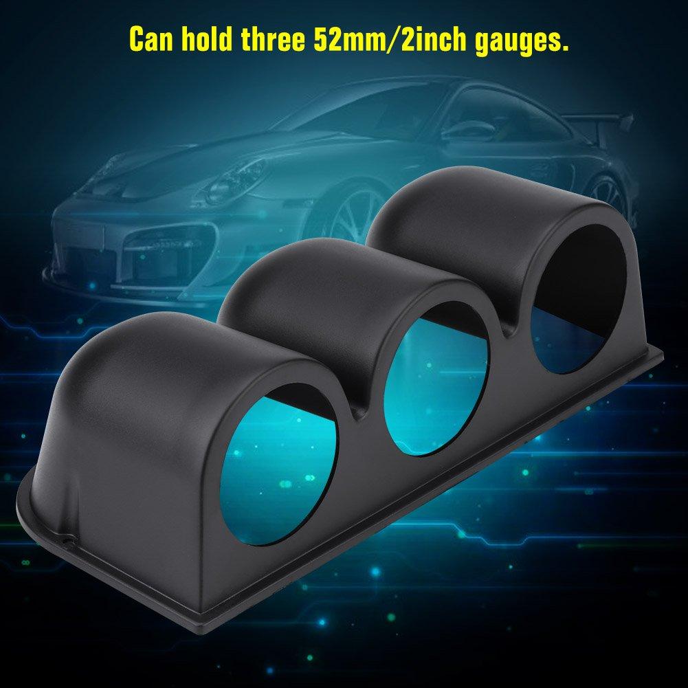 3 Orificios Suchinm Soporte Universal para man/ómetro Negro Soporte Universal para Montaje en pod/ómetro con medidor de Tablero Triple 52 mm // 2