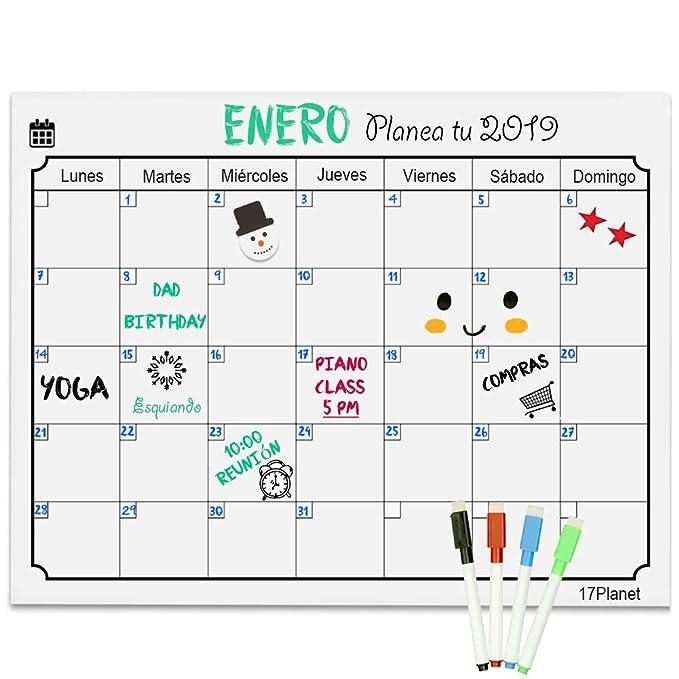 Calendario Magnético para Nevera,17Planet Pizarra Blanca ...