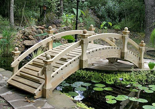Garden Bridge - High Rise Low Rail - Bridge Rail Garden Low