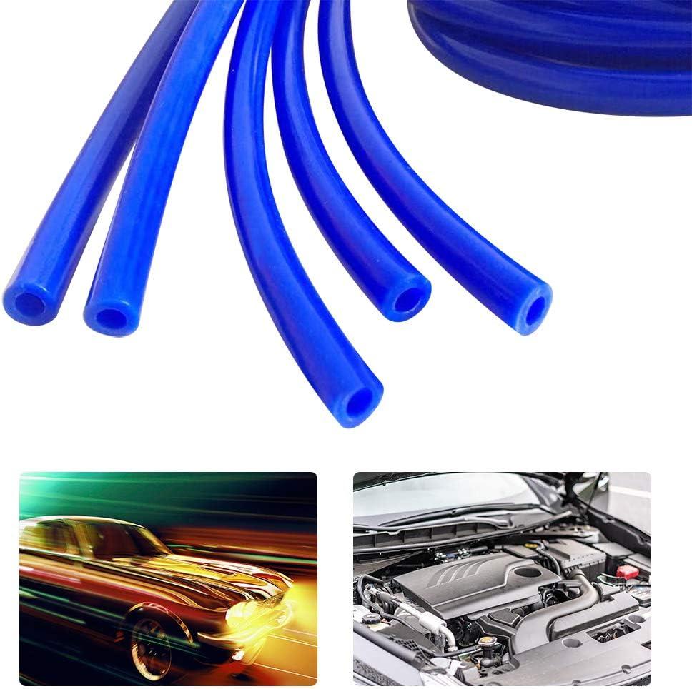 Silikon Vakuumschlauch 4mm 5 Meter Unterdruckschlauch Schlauch Rohr Vacuum Tube f/ür alle luft//pumpe//gauge Blau