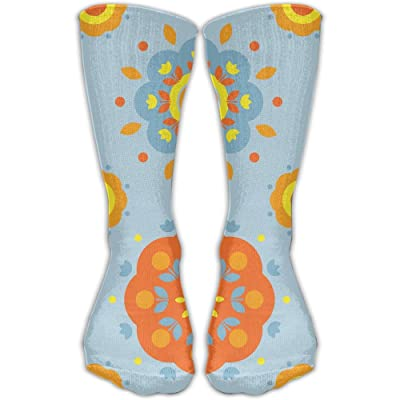 YUANSHAN Socks Orange Mum Women & Men Socks Soccer Sock Sport Tube Stockings Length 11.8Inch