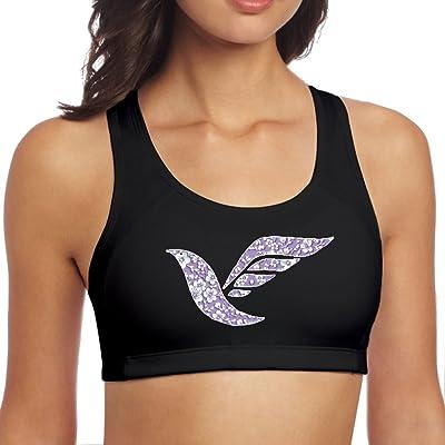 Women Sports Vest Birds Flowers