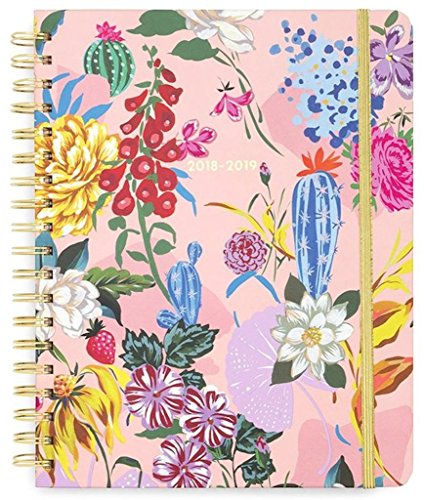 Ban.do 13 Month Large Hardcover Daily Planner, 2018-2019 (Garden Party)