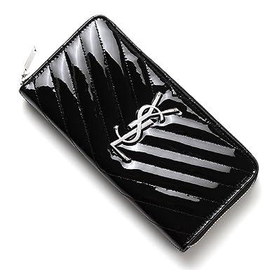 56a995123b69 SAINT LAURENT PARIS zip-around long wallet  With coin purse  MONOGRAM SAINT  LAURENT LEATHER NERO Black 358094 cr116 1000  Amazon.co.uk  Clothing