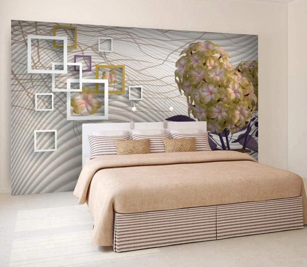 Flower Group Three Petal Flower 3D Wallpaper Efecto 3D Tv Fondo Decoración De La Pared Mural Decoración Del Hogar Tela De Pared, W450Xh310Cm: Amazon.es: Bricolaje y herramientas