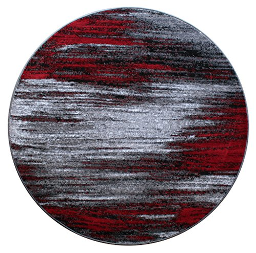 Masada Rugs, Modern Contemporary Round A - Circles Red Area Rug Shopping Results