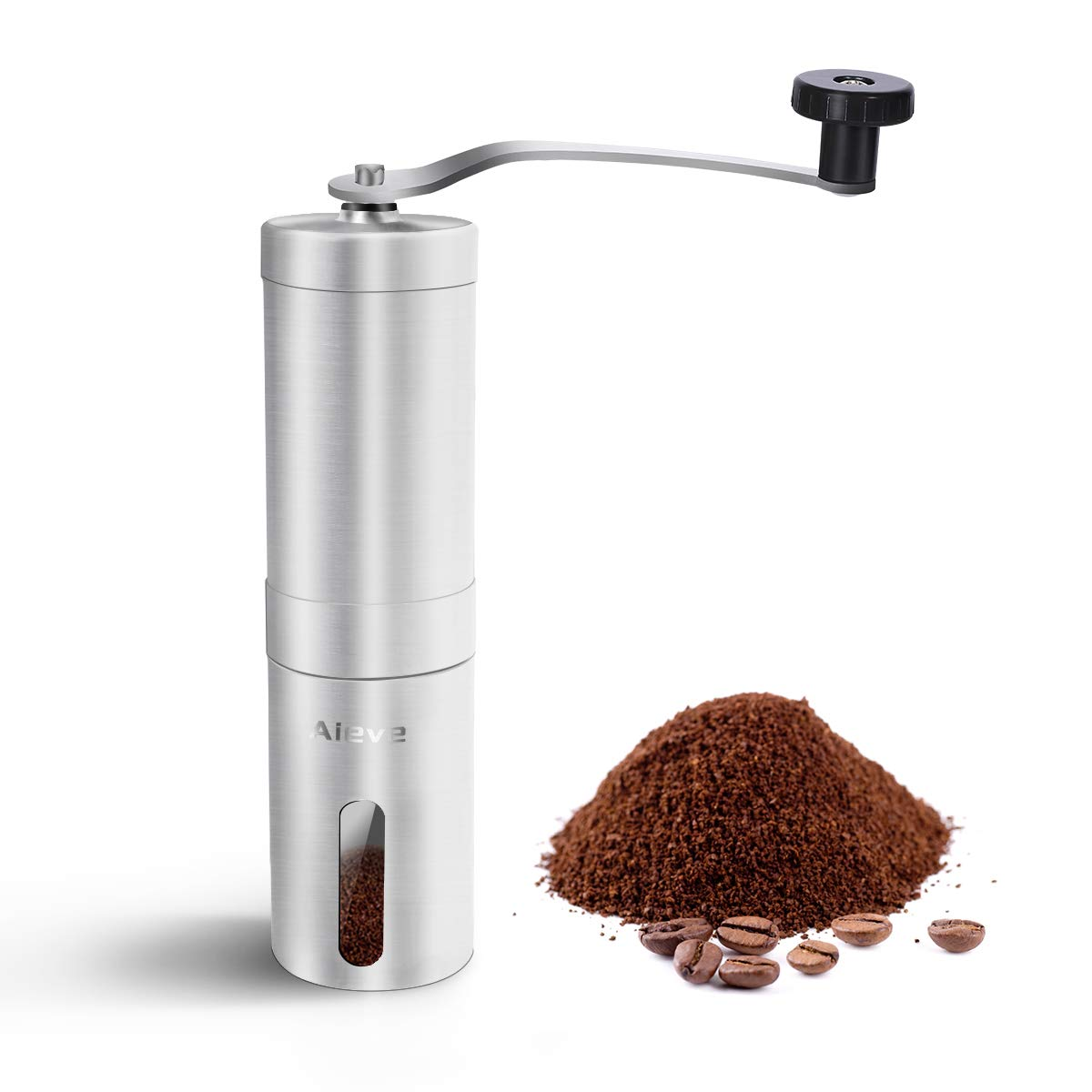 Manual Coffee Grinder,Stainless Steel Coffee Grinder Manual Grinder Conical Burr Grinder for Grinding Coffee Beans Spices Herb