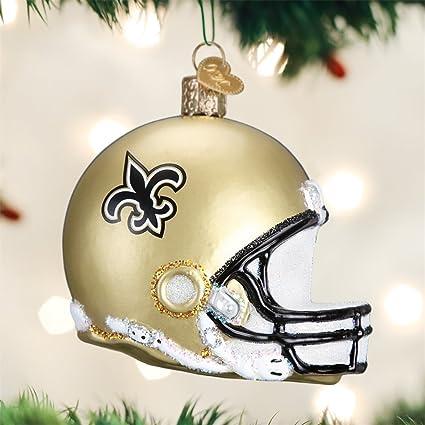 New Orleans Saints Christmas Ornaments.Amazon Com Old World Christmas New Orleans Saints Football