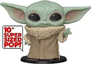 """Funko Pop! Star Wars: The Mandalorian - The Child, 10"""" Super Sized Pop!, Multicolor (49757)"""