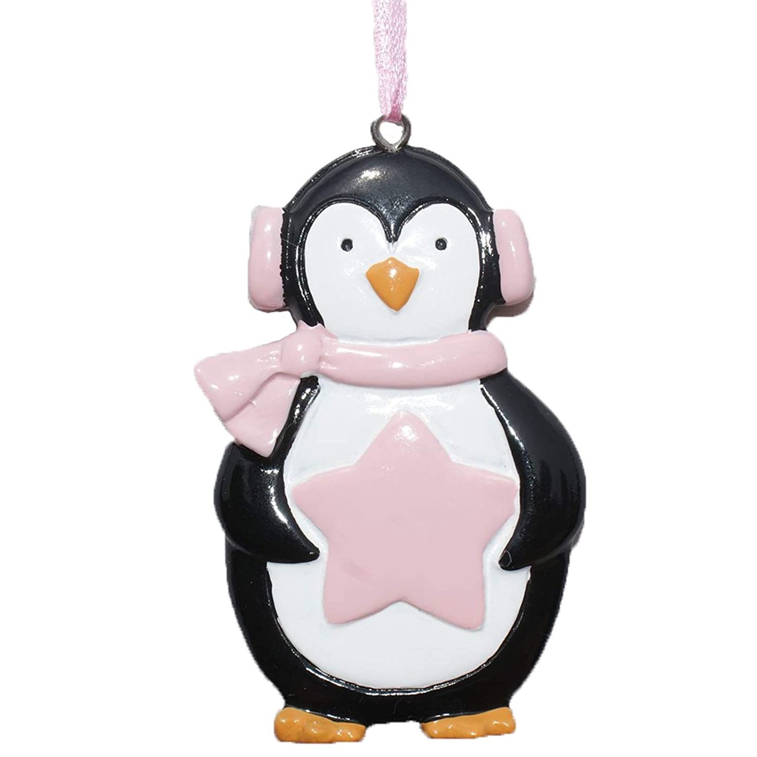 PERSONALISED & ENGRAVED GIRLS PINK STAR PENGUIN HAND PAINTED XMAS DECORATION - ANY NAME CAN BE ADDED (11 LETTERS MAX) (Name Only): Amazon.co.uk: Kitchen & ...