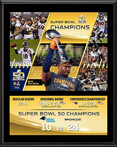 Denver Broncos Champions Sublimated Plaque