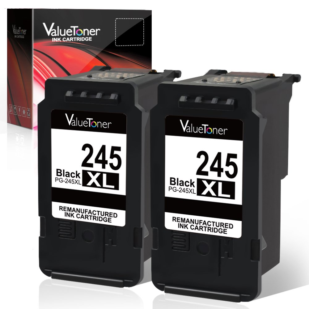 Valuetoner Remanufactured for Canon 245XL Ink Cartridge Replacement for Canon PG 245 XL PG-243 (2 Black) with Canon PIXMA MX492 MX490 MG3022 MG2522 MG2920 MG2420 MG2520 MG2922 MG2924 MG3029 iP2820