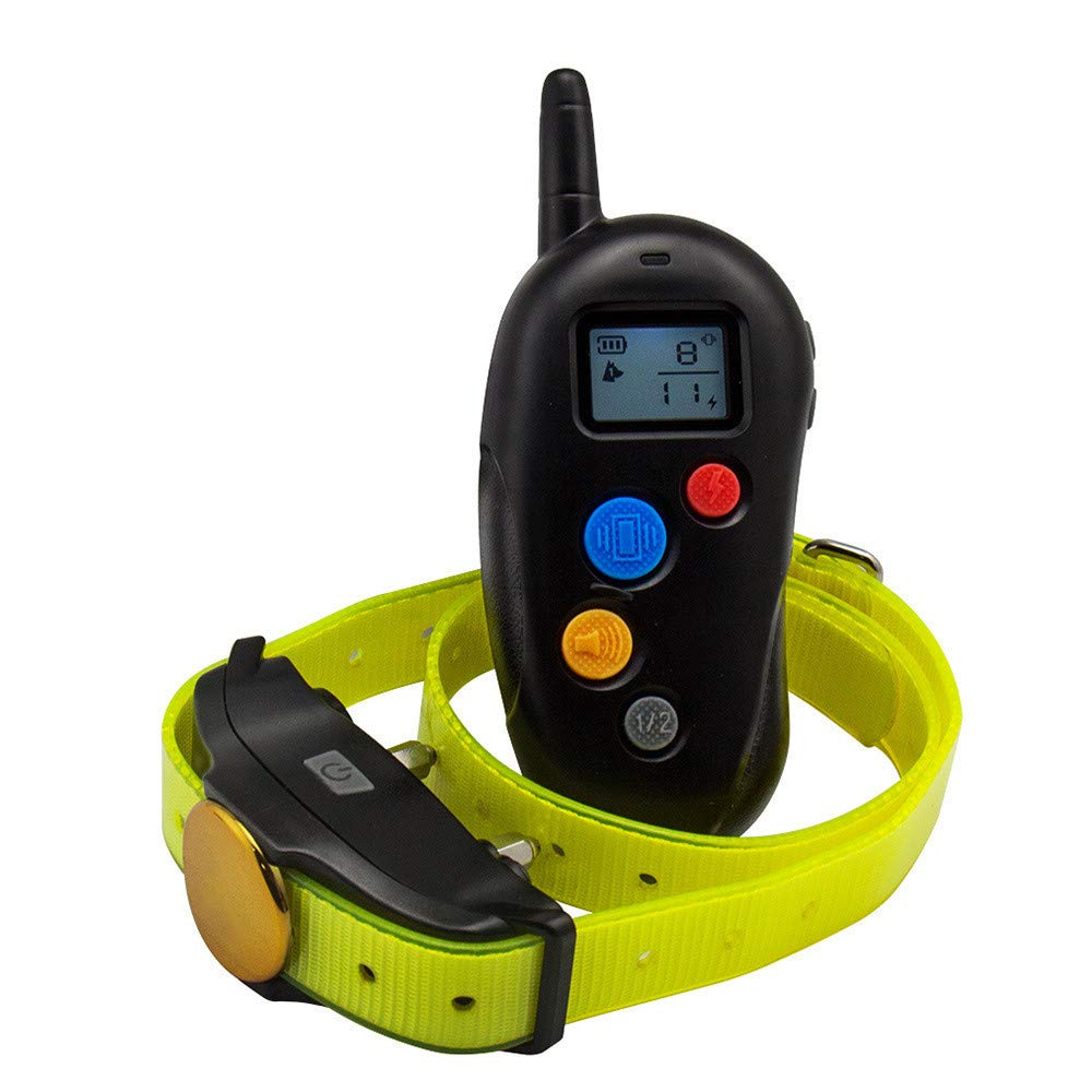 Dog Training Collar, Waterproof USB Rechargeable Dog Remote Trainer with Double Vibration and Beep Mode for Home Training Use, 300 Yards Range.