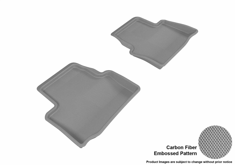 3D MAXpider Complete Set Custom Fit All-Weather Floor Mat for Select Cadillac ATS Models Tan Kagu Rubber