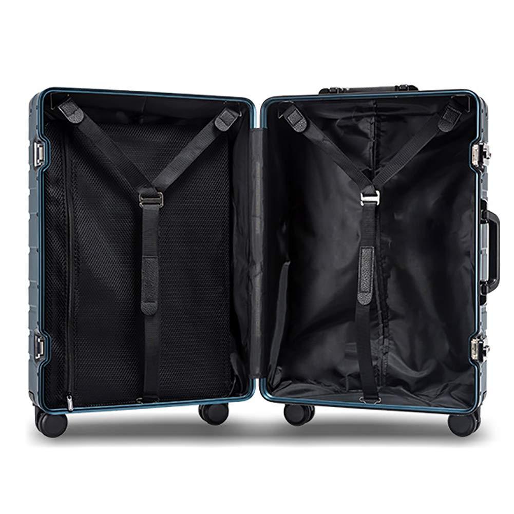 MZTYX Es Metal Aluminio-magnesio aleación Maleta, Maleta TSA aduana contraseña Cerradura embarque Maleta: Amazon.es: Deportes y aire libre