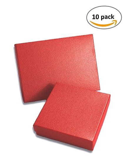 Cajas de Joyería 5,25 x 3,75 x 7/8 pulgadas Rojo