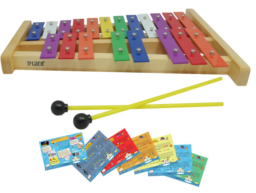 D'Luca TL25D 20 Notes Full Chromatic Xylophone Glockenspiel with Music Cards by D'Luca (Image #2)