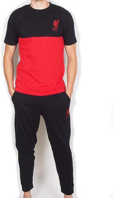 M Liverpool FC Herren T-Shirt rot Schriftzug in schwarz