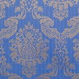 Louis Blue / Gold Foil Damask