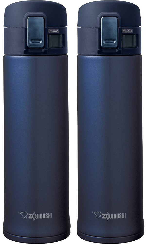 Zojirushi SM-KHE48AG Stainless Steel Mug, 16-Ounce, Smoky Blue - 2 Pack by Zojirushi