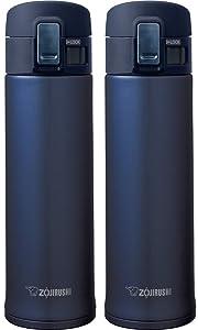 Zojirushi SM-KHE48AG Stainless Steel Mug, 16-Ounce, Smoky Blue - 2 Pack