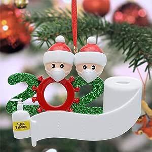 Amazon.com: 2020 New Personalized DIY Christmas Ornaments Quarantine Survivor Family Christmas ...