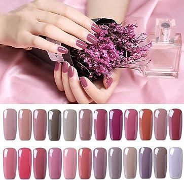 Set de esmalte de uñas de gel CLAVUZ; 12 unidades, multicolores ...