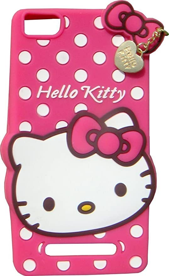 new product 0ba20 bec7e XIAOMI MI4I Back Cover - Yes2Good Printed Hello Kitty Soft Rubber Silicone  Pink Back Cover Case For XIAOMI MI4I Back Cover-Pink