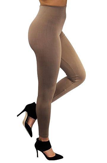 cbe29f10b86f2 Enimay Women's Gym Leggings High Waist Tights Workout Yoga Pants Beige