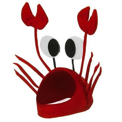 EOZY Sombrero Cangrejo Para Fiesta Mujer Hombre Disfraz En Halloween  Navidad  Amazon.es  Juguetes y juegos 6fd07df4b18