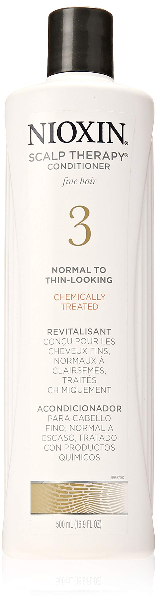 Nioxin Scalp Therapy Conditioner System 3 for Color Treated Hair with Light Thinning, 16.9 Ounce