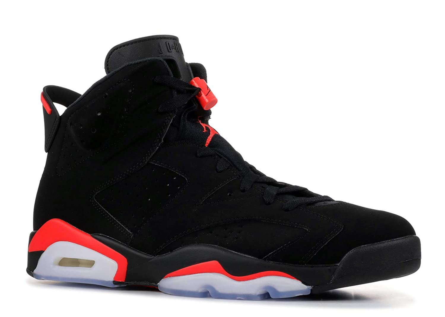 newest collection f2755 279d1 Amazon.com | Nike Air Jordan 6 Retro OG Black/Infrared 2019 ...